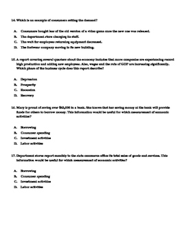 Principles of Business and Finance Test Bank Questions / Final Exam Review Guide