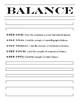 Principles of Design, Balance, Art Lesson Review: Printable Coloring Worksheet