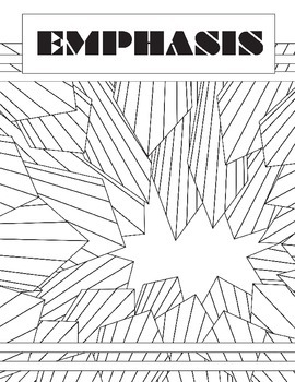 Principle of Design, Emphasis, Review: Fill in the Blank Art Worksheet
