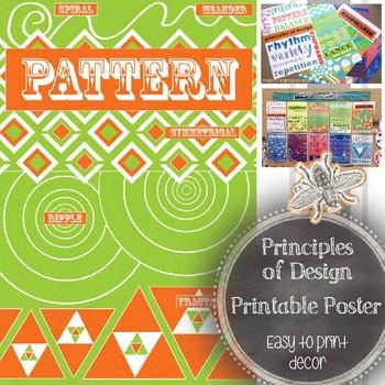Principle of Design, Pattern, Printable Poster: Art Education Word Wall