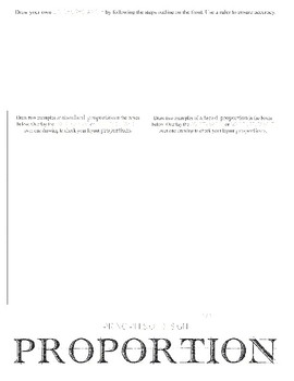 Principle of Design, Proportion: Minilesson Visual Art Worksheet