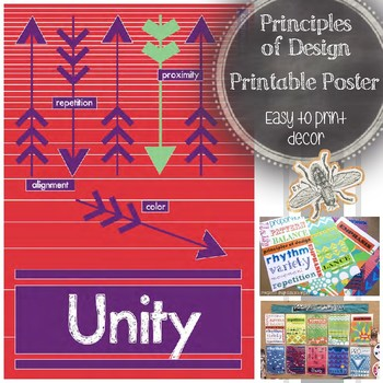 Principle of Design, Unity, Printable Poster: Art Class Word Wall