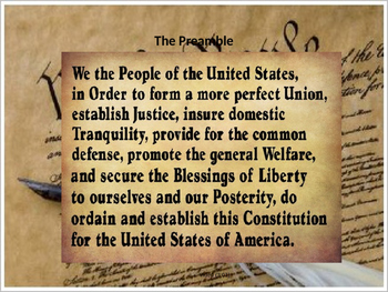 Principles Embedded in Constitution w/Test (CCSS 4.41, 4.50)