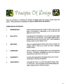 Principles Of Design Lesson