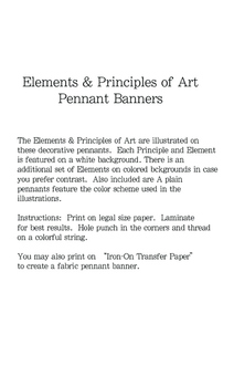 Principles and Elements of Art Pennant Banners