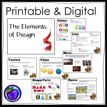 Principles and Elements of Design Anchor Charts