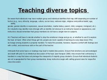Principles and Guidelines of Teaching to Diverse Students Part4