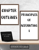 Principles of Accounting 1 Chapter Outlines