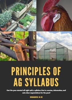 Principles of Agriculture AgriScience Syllabus-Editable