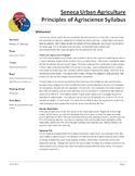 Principles of Agriculture AgriScience Syllabus