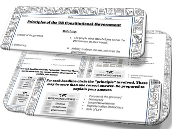 Principles of American Constitutional Government - Civics SOL