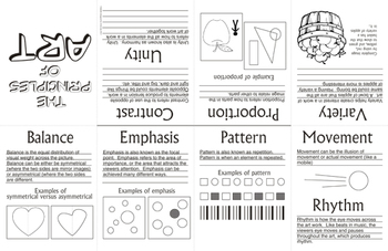 Principles Of Art Design Foldable By ArtsyCat TpT - Art design document