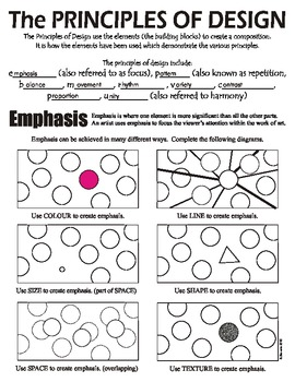 Principles of Art (Design) and Emphasis (Canadian Spelling)