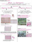 Principles of Art: Pattern Handout and Guide Sheet