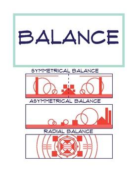 Principles of Art Poster: Balance