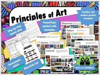 Principles of Art emphasis rhythm contrast balance move pattern proportion unity