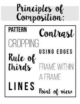 Principles of Composition in Photography Poster