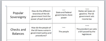 Principles of Constitution Matching Cards