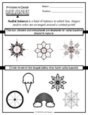Principles of Design (Balance) worksheet focuses on radial balance!