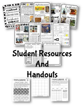 Principles of Design Challenge – Art Lessons with Handouts and Activities