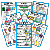 "Principles of Design Classroom Visuals Posters Bulletin Board 18"" x 12"""