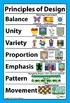 """Principles of Design Classroom Visuals Posters Bulletin Board 18"""" x 12"""""""