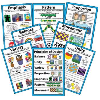 Principles of Design Classroom Visuals Posters Bulletin Bo