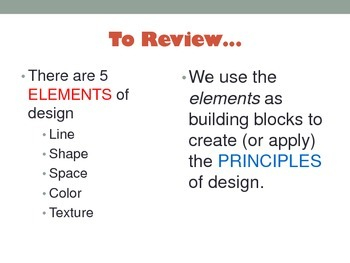 Principles of Design Introduction for Interior Design Family & Consumer Science