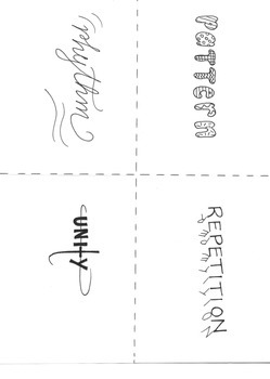 Principles of Design Mini-book/ Flashcard set