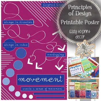 Principles of Design (Movement): Printable Art Poster, Classroom Decor