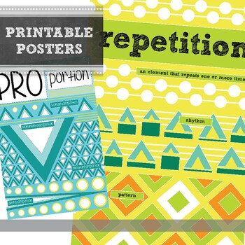 Principles of Design Printable Poster Packet: Art Education Word Wall