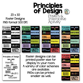 Principles of Design Posters & Interactive Notebook Activities