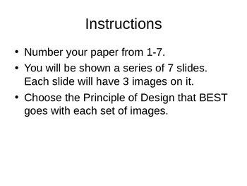 Principles of Design Quiz 1 (PowerPoint Presentation)