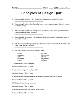 Principles of Design Quiz