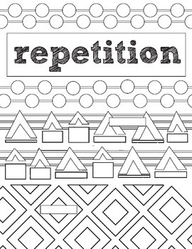 Principles of Design, Repetition, Review Activity: Fill in Art Worksheet