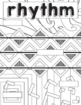 Principles of Design: Rhythm Coloring Book, Worksheet Art Activity