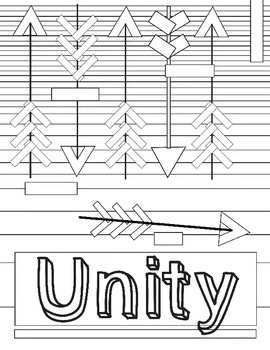 Principles of Design, Unity, Worksheet Review: Unity Color it in Handout