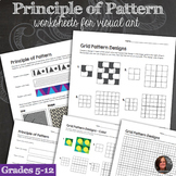 Principles of Design Worksheets - Principle of Pattern & P