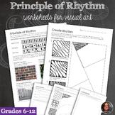 Principles of Design Worksheets - Principle of Rhythm Work