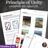 Principles of Design Worksheets - Principle of Unity & Uni