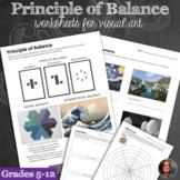 Principles of Design Worksheets - Principle of Balance & Balance Mini-Lessons