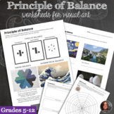 Principles of Design Worksheets - Principle of Balance & B