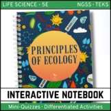 Principles of Ecology Life Science Interactive Notebook - Distance Learning