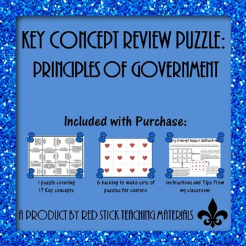 Principles of Govermnet Key Concept Puzzle