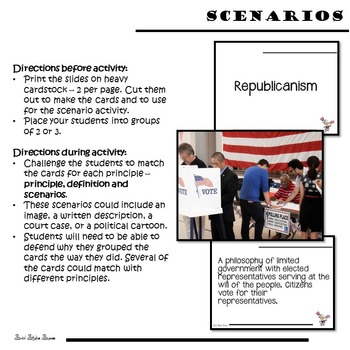 Principles of Government Scenarios and Games