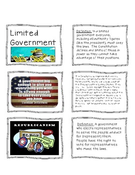 Principles of Government Card Sort