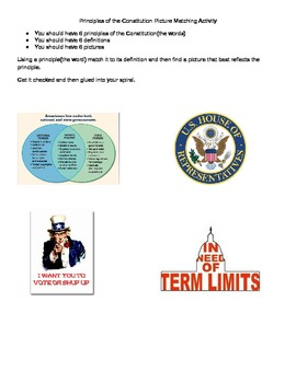 Principles of Government Picture Matching Activity