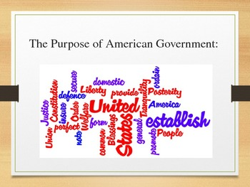 Principles of Government Power Point
