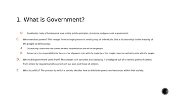 Principles of Government PowerPoint