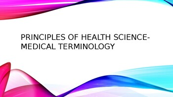 Principles of Health Science-Medical Terminology Bell Ringers
